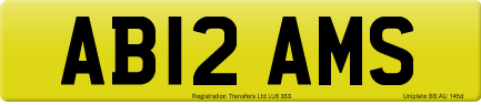 AB12 AMS private number plate