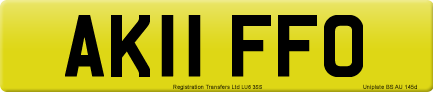 AK11 FFO private number plate