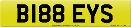B188 EYS private number plate