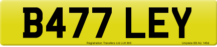 B477 LEY private number plate