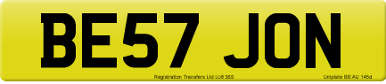 BE57 JON private number plate