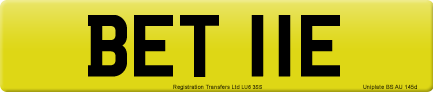 BET 11E private number plate