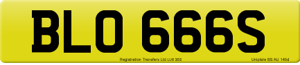 BLO 666S private number plate