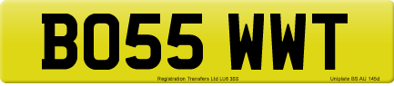 BO55 WWT private number plate