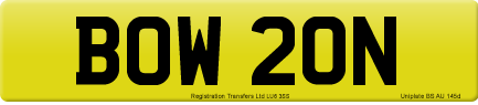 BOW 20N private number plate
