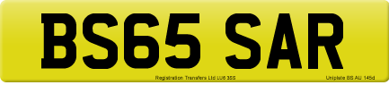 BS65 SAR private number plate