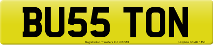 BU55 TON private number plate