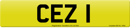 CEZ 1 private number plate