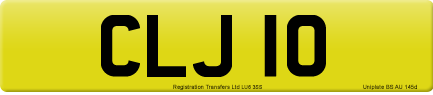 CLJ 10 private number plate