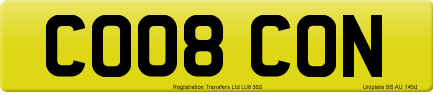 CO08 CON private number plate