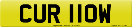 CUR 110W private number plate