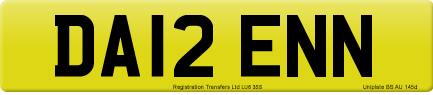 DA12 ENN private number plate