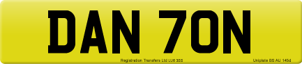 DAN 70N private number plate