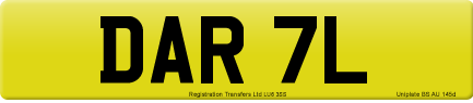 DAR 7L private number plate