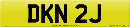 DKN 2J private number plate