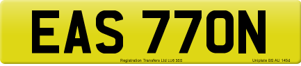 EAS 770N private number plate