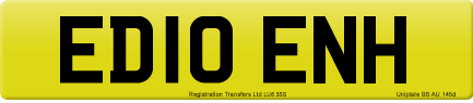 ED10 ENH private number plate