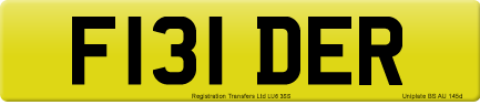 F131 DER private number plate