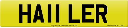 HA11 LER private number plate