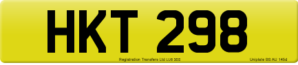 HKT 298 private number plate