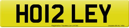 HO12 LEY private number plate