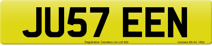 JU57 EEN private number plate