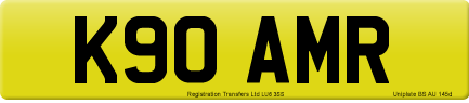 K90 AMR private number plate