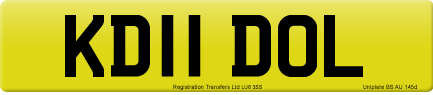 KD11 DOL private number plate