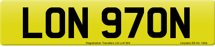 LON 970N private number plate