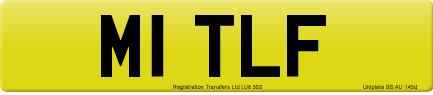M1 TLF private number plate