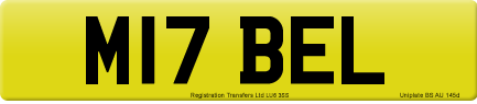 M17 BEL private number plate