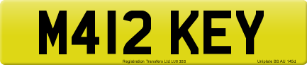 M412 KEY private number plate