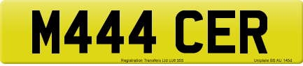 M444 CER private number plate