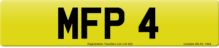 MFP 4 private number plate