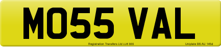 MO55 VAL private number plate