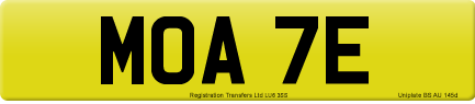 MOA 7E private number plate
