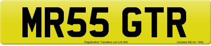 MR55 GTR private number plate