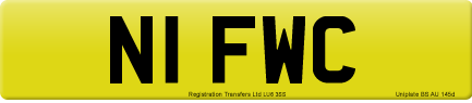 N1 FWC private number plate