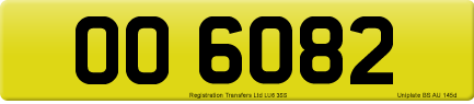 OO 6082 private number plate