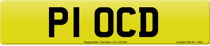 P1 OCD private number plate