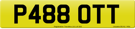 P488 OTT private number plate