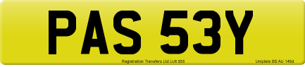 PAS 53Y private number plate