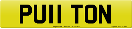 PU11 TON private number plate
