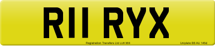 R11 RYX private number plate