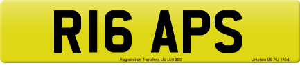 R16 APS private number plate