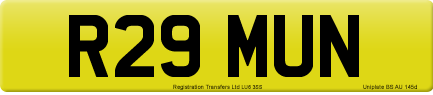 R29 MUN private number plate