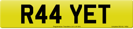 R44 YET private number plate