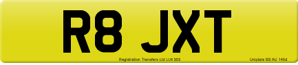 R8 JXT private number plate