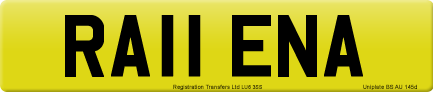 RA11 ENA private number plate