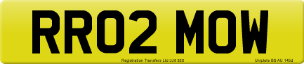 RR02 MOW private number plate